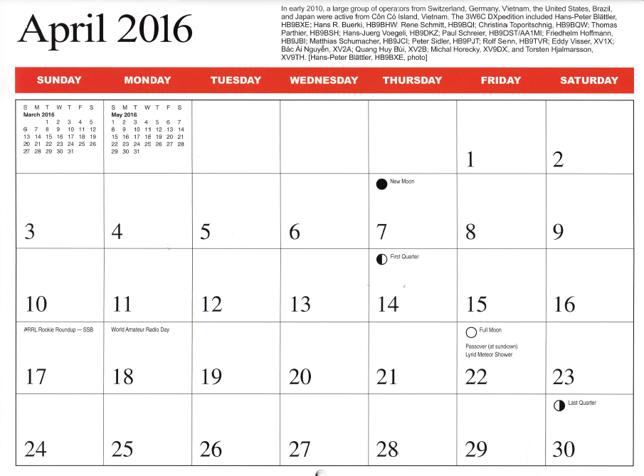 3w6c dxpedition im arrl kalender 2016 sdxf. Black Bedroom Furniture Sets. Home Design Ideas